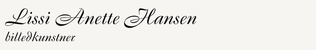 Lissi Anette Hansen Billedkunstner